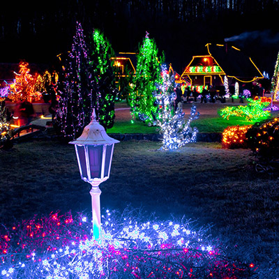 light up holiday town
